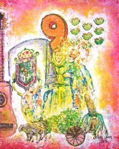 Una ilustración del Poemario dedicado a Valleseco.