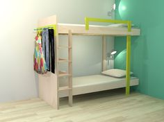 Bunkbed DIY Design by Neo-Eko Dutch Design. | Werktekening bouwtekening stapelbed / dubbelbed 'Mila' om zelf te maken