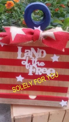 Land of the Free-Wooden Tablet Holder by shopsolelyforyou on Etsy