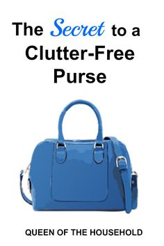 If you have a hard time keeping your purse organized, check out this one thing that will change the way you keep your purse!