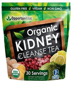 Organic Kidney Cleanse Tea Natural Support for Urinary Tract  Bladder Feel Great  Boost Your Energy With Our Kidney Detox Supplement Featuring Matcha Green Tea Cranberry Lemon  Ginger *** Learn more by visiting the image link.