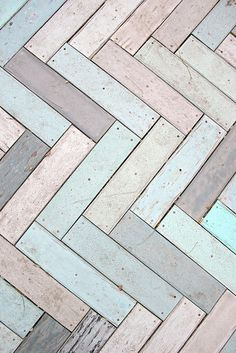 pastel herringbone floor. So beautiful!!