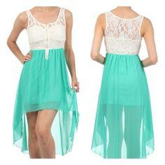 Hi Low Dress with Zipper from JMKJ