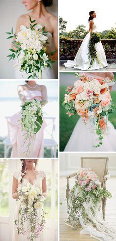 cascading bouquet   cascading bridal bouquets Cascading Bouquets