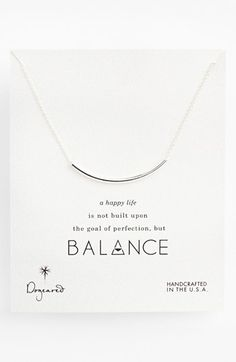 Free shipping and returns on Dogeared 'Balance' Necklace at Nordstrom.com. A subtly symbolic crescent-shaped bead is strung on this delicately handcrafted chain that's sleek enough for layering.