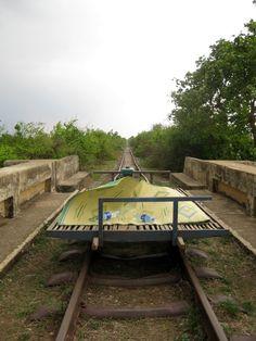 Bamboo train, Battambang. This was soooooo much fun!