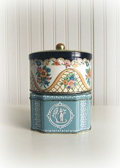 Vintage English Tea Tins by southrosewindow on Etsy