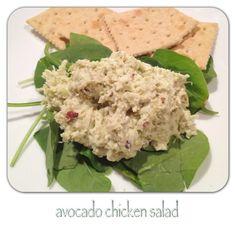 avocado chicken salad #recipe #healthy #nutrition #chicken
