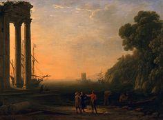 View of Seaport   Claude Lorrain