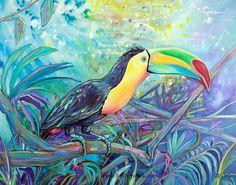Belize Toucan-Art by Jen Callahan by jenartwork on Etsy