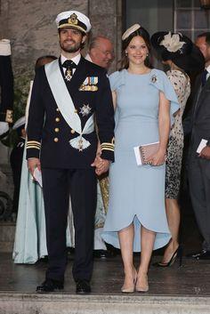 Princess Sofia of Sweden Photos: Christening of Prince Oscar of Sweden - Celebrity Fashion Trends