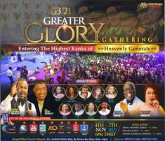 Join The Gathering Of The Highest Ranks Of Heavenly Generals GREATER GLORY GATHERING - 5 FRIDAYS OF TRANSFORMATION. 4th - 7th November 2021. 7PM Prompt! Connect To YouTube Live. #GospelPillarsChurch #GospelPillars #DrWealth #DrIsaiahWealth Youtube Live, To Youtube, Prophet Isaiah, Bus Stop, Upcoming Events, The Gathering, The Cure, Healing, Prompt