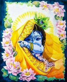 48213364 No photo description available. Little Krishna, Cute Krishna, Krishna Drawing, Krishna Painting, Lord Krishna Images, Radha Krishna Pictures, Radha Krishna Photo, Krishna Radha, Hanuman