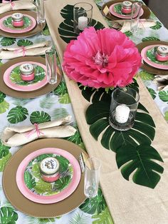 """Transport mom to paradise this Mother's Day with a tropical brunch! After all mothers are the ultimate source of love, or """"aloha"""" as we say in Hawaii! Aloha Party, Luau Theme Party, Hawaiian Luau Party, Hawaiian Birthday, Luau Birthday, Birthday Party Themes, Birthday Brunch, Brunch Party, Birthday Treats"""
