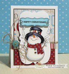 Happy Christmas Snowman Card : Scrapping Mommy by mommy2darlings, via Flickr