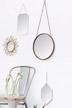 Miroir rond bloomingville cuivre diam tre 46 cm for Miroir urban
