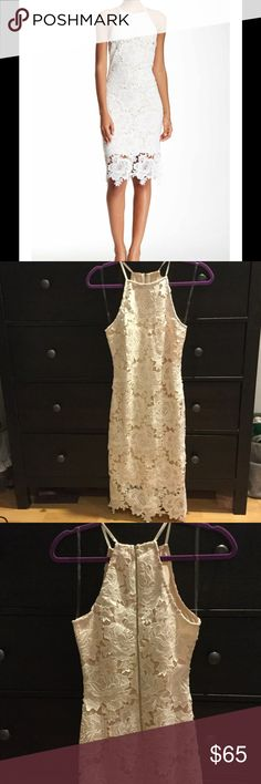 BRAND NEW ‼️MAKE AN OFFER‼️White LaCe Dress  This dress is absolutely beautiful! The white rose lace detail is stunning! There is an attached, off-white/nude slip underneath that makes the lace detail stand out. The nude slip ends higher than the dress (See cover pic) Zipper begins at lower back and zips up to the top. I just ordered this dress and it sadly doesn't fit! Only worn to try on. There were no tags on the dress when it was packaged, but I do have the original bag packaging that…