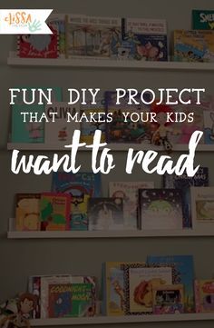 A cheap way to decorate your children's room and encourage them to read!