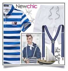 """""""Newchic - Nautical Style XI/9"""" by ewa-naukowicz-wojcik ❤ liked on Polyvore featuring Bellini, men's fashion and menswear"""