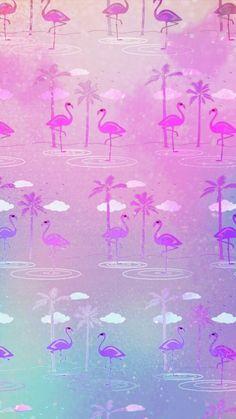 By Artist Unknown🇺🇸. Wallpaper Pastel, Flamingo Wallpaper, Windows Wallpaper, Hd Wallpaper Desktop, Computer Wallpaper, Cartoon Wallpaper, Mobile Wallpaper, Cute Wallpapers, Wallpaper Backgrounds