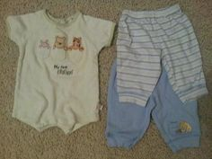 Baby Boy Clothes Lot of 3 - Winnie the Pooh Classic Romper & Pants - 0-3 months | eBay