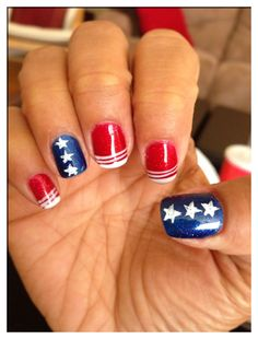 Instagram Photo By Newlypolished Nail Nails Nailart Pinterest American Flag And