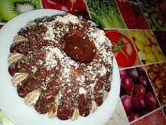 Márványos (mazsolás) kuglóf csokival nyakonöntve