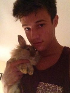 2 adorable things <3 :) gotta love Cameron Dallas
