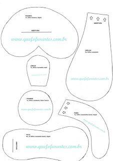FELTROMARA: CACHORRO COM MOLDES Teddy Bear Sewing Pattern, Cow Pattern, Primitive Doll Patterns, Felt Wreath, Felt Dogs, Felt Patterns, Stuffed Animal Patterns, Painting Patterns, Fabric Dolls