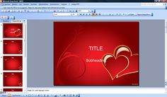 Free love St. Valentine's backgrounds templates for Microsoft PowerPoint 2007 and 2010