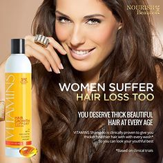 Advanced Hair Loss Shampoo- Growth and Less Thinning in Clinical Trials - Natural Biotin Treatment for Faster Regrowth in Men & Women- Proven Product for Alopecia Restoration- Month Supply Black Hair Growth, New Hair Growth, Hair Growth Tips, Biotin Hair Growth, Hair Growth Shampoo, Hair Regrowth, Best Volumizing Hair Products, Causes Of Hair Fall, Dermaroller