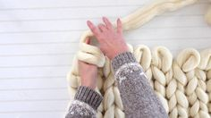 How to Hand Knit a Blanket Tutorial | eHow