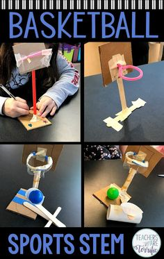 The most fun challenge ever in the STEM lab! The most fun challenge ever in the STEM lab! The most fun challenge ever in the STEM lab! Stem Science, Science Experiments Kids, Science For Kids, Science Lesson Plans, Steam Activities, School Age Activities, Activities For Students, Teamwork Activities, Sports Activities For Kids