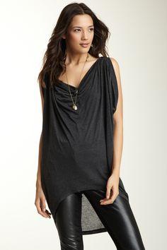 Graham & Spencer Open Sequin Embellished Sleeve Top on HauteLook