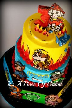 Amazingly detailed PAW Patrol cake!