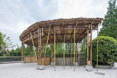 architectural practice atelier REP constructs the bamboo garden in the countryside of chengdu, china -- introducing family activities in a dairy farm. Foster Architecture, Pavilion Architecture, Landscape Architecture, Chengdu, Diy Pergola, Pergola Kits, Gazebo, Bamboo Structure, Bamboo Design