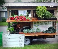 Riverview Gardens traveling market stand