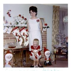 1964 - love the blow up Santas . . . and everything else, too.