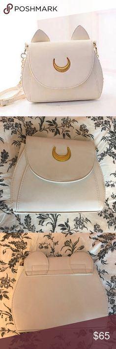 """JUST IN! Vegan Leather Luna Cat Ears crossbody About 8"""" in height, 9.5"""" in length, 3"""" in width!  Adjustable strap (22"""" at its longest) No offers on this particular item.  Brand new! High quality!  Vegan leather! ❤️ Boutique brand- NOT kate spade kate spade Bags Crossbody Bags"""