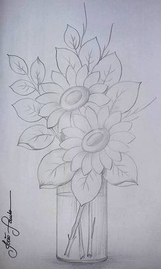 New Embroidery Sunflower Pattern Coloring Pages Ideas Tole Painting, Fabric Painting, Painting & Drawing, Watercolor Paintings, Drawing Drawing, Drawing Ideas, Daisy Painting, Mandala Painting, Painting Flowers