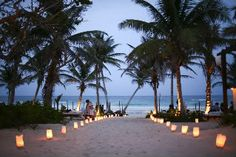 Luminaries on the entrance to the wedding site? Yes, We Can Do This In Beautiful Puerto Rico!!!