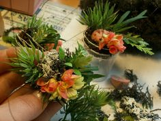 Flores suspensas Miniaturas Tutorial
