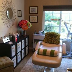 My at home esthetician room.i wish esthetician wish list салоны красоты, к Massage Therapy Rooms, Massage Room, Hair Removal, Mary Kay, Esthetics Room, Spa Rooms, Relaxation Room, Beauty Salon Interior, Spa Design