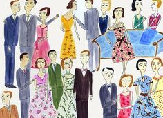 The Party.   Limited edition print by Vivienne Strauss.