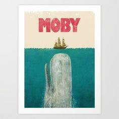 Moby  Art Print by Terry Fan