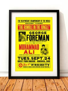 Muhammad Ali poster print Muhammad Ali Rumble in by TheIndoorType