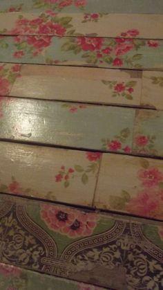 Decoupage Floors to create shabby chic floors