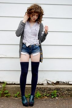 I want thigh high socks. they make such cute fall outfits =]