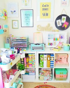 12 Drool Worthy Craft Room Ideas That Will Make You Drool - Craftsonfire Sewing Room Organization, Craft Room Storage, Storage Spaces, Storage Ideas, Organization Ideas, Fridge Organization, Ikea, Home Office, Small Craft Rooms