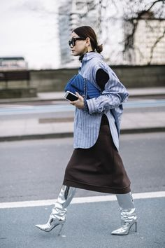 London Fashion Week Fall 2017 Street Style Day 4, See the best street style captured at London Fashion Week Fall 2017 at TheImpression.com LFW